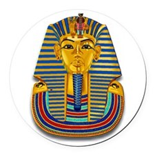 King Tut Mask #2 Round Car Magnet