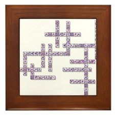 WBC Crossword Puzzle Framed Tile