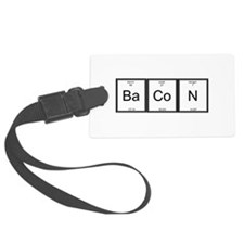 Elemental Bacon Luggage Tag