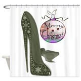 Christmas Stiletto Shoe Art Shower Curtain