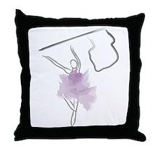 Colorguard Flag Toss Sketch Throw Pillow