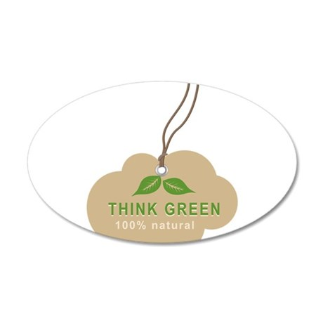 Natural Green 35x21 Oval Wall Decal