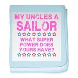 My Uncle is a Sailor (Pink) baby blanket