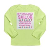 My Uncle is a Sailor (Pink) Long Sleeve Infant T-S