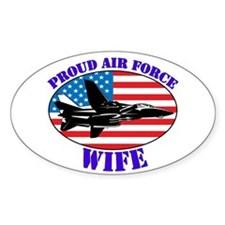 Proud Air Force Wife Oval Decal