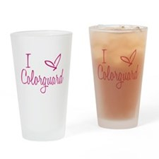 I love Colorguard Drinking Glass