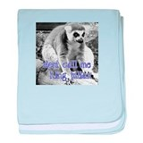 Lemur Don't Call Me King Julian baby blanket