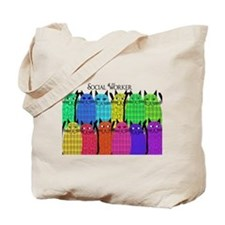 social worker cats horizi blanket.PNG Tote Bag