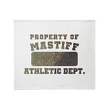 Property of Mastiff Throw Blanket