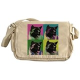 Akita Pop Art Messenger Bag