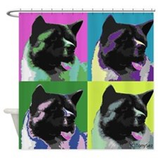 Akita Pop Art Shower Curtain