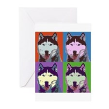 Husky Pop Art Greeting Cards (Pk of 10)