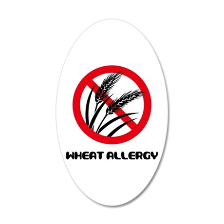 Wheat Allergy 20x12 Oval Wall Decal