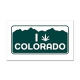 CO - Colorado Rectangle Car Magnet