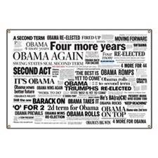 Obama Win 2012 Headline Collage Banner