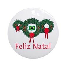 Brazil Christmas 2 Ornament (Round)