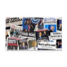 Obama Wins 2012 Newspaper Rectangle Car Magnet