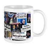 Obama Wins 2012 Newspaper Small Mug