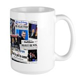 Obama Wins 2012 Newspaper Ceramic Mugs