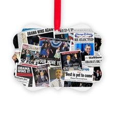 Obama Wins 2012 Newspaper Ornament