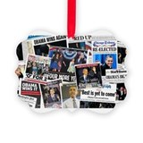 Obama Wins 2012 Newspaper Picture Ornament
