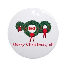 Canada Christmas 2 Ornament (Round)
