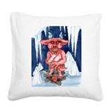 hell has frozen over Square Canvas Pillow