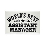 World's Best Assistant Manager Rectangle Magnet