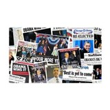 Barack Obama 2012 Re-Election Collage Wall Decal