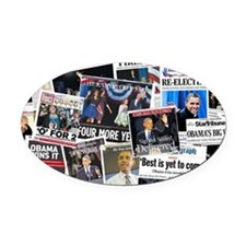 Barack Obama 2012 Re-Election Oval Car Magnet