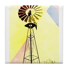 Windmill in the Sun Tile Coaster
