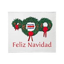 Costa Rica Christmas 2 Throw Blanket