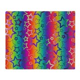 Rainbow Stars Pattern Throw Blanket
