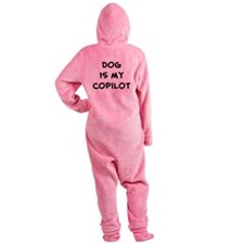 dogismycopilot.png Footed Pajamas