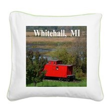 Caboose Square Canvas Pillow