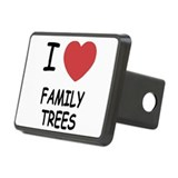 I heart family trees Rectangular Hitch Cover