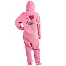 I heart crash dummies Footed Pajamas