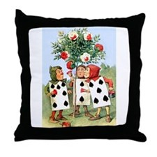 Painting the Queen's Roses Red Throw Pillow