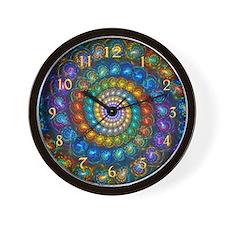 Fractal Spiral Shell Beads Custom Wall Clock