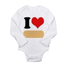 I heart Twinkies Long Sleeve Infant Bodysuit