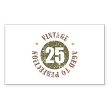 25th Vintage birthday Stickers