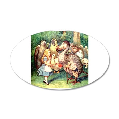 Alice and the Doe 20x12 Oval Wall Decal