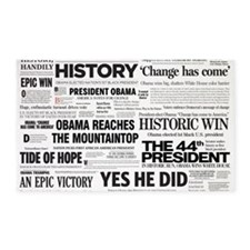 Obama Victory Collage 3'x5' Area Rug