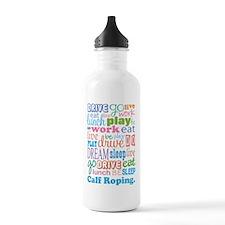 Calf Roping Water Bottle