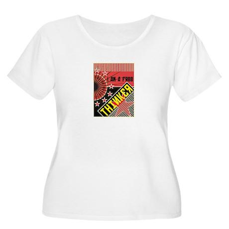 free thinker Women's Plus Size Scoop Neck T-Shirt