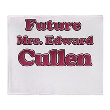 Future Mrs. Edward Cullen 3 Throw Blanket