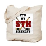Hockey 5th Birthday Tote Bag