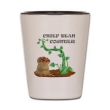 Chief Bean Counter Shot Glass