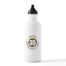 35th Vintage birthday Water Bottle