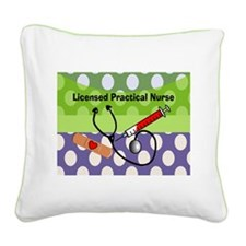 LPN tote.PNG Square Canvas Pillow